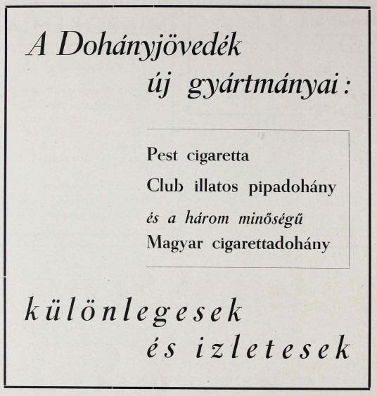 1946. Új dohánygyártmányok
