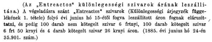 1885.06.21. Entreactos szivar