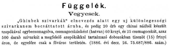 1887.01.08. Ghiubek cigaretta