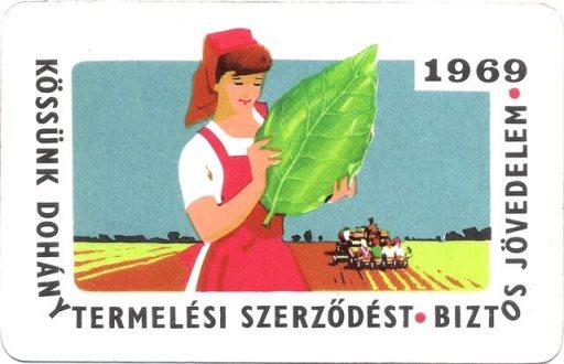 Dohánytermelési szerződés 1969.