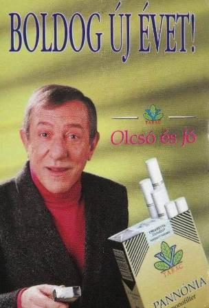 Pannónia cigaretta 1997.