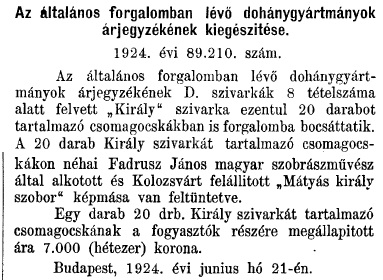 1924.07.01. Király cigaretta