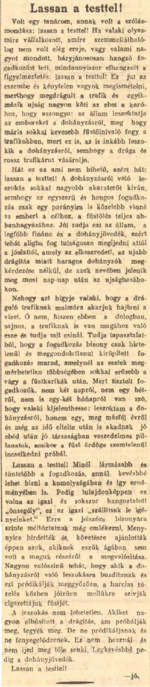 1927.12.08. Lassan a testtel