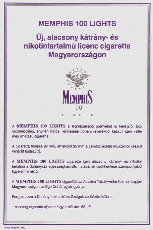Memphis cigaretta