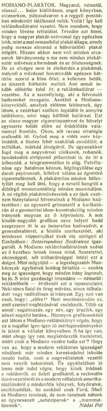 1930. Modiano plakátkiállítás