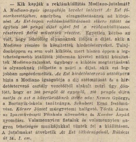 1929.05.15. Modiano plakátkiállítás