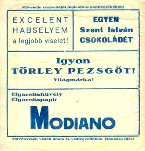 Modiano újsághirdetés 1.