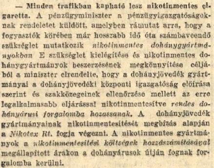 1930.10.14. Mindenhol lesz Nikotex