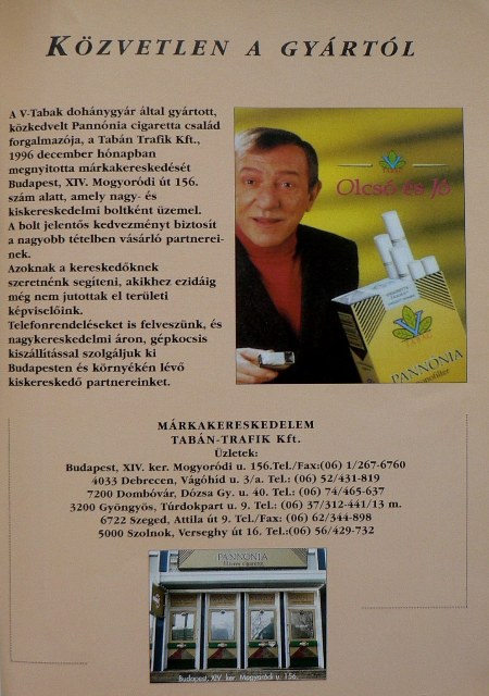 Pannónia cigaretta 2.