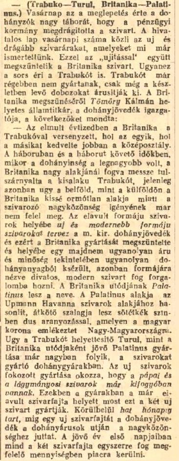 1927.12.06. Legújabb szivarok