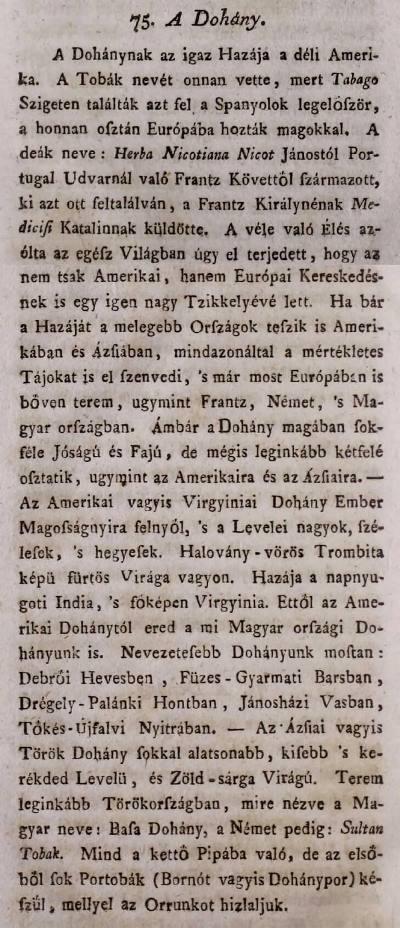 1798. A dohány