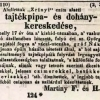 1842.08.04. Martiny dohánykereskedése