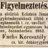 1842.12.11. Fuchs és Eckstein