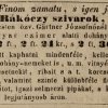 1843.09.27. Rákóczy-szivarok