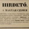 1844.03.20. Magyar Czimer dohánykereskedés