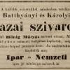 1844.11.12. Hönig Mátyás szivarjai