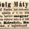 1844.11.14. Hönig Mátyás szivargyáros