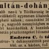 1845.05.20. Enderes - Sultán-dohány