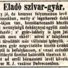 1845.06.20. Eladó szivargyár Debrecenben