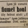 1845.10.31. Fiumei honi szivarok