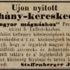 1846.01.08. Staffenberger dohánykereskedés