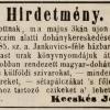 1846.05.03. Kecskés dohánykereskedés