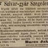 1846.07.26. Baron Jakab szivargyára