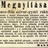 1847.04.30. Makk Ferencz szivargyára