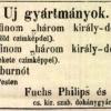 1847.06.20. Fuchs-Philips szivargyár