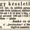 1847.09.21. Jankó és társa dohánykereskedés