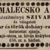 1848.03.28. Malecsko A. szivargyáros