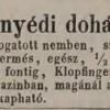 1848.08.04. Vittnyédi dohány