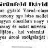 1850.08.16. Grünfeld Dávid boltja