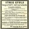 1865.11.05. Import dohánygyártmányok