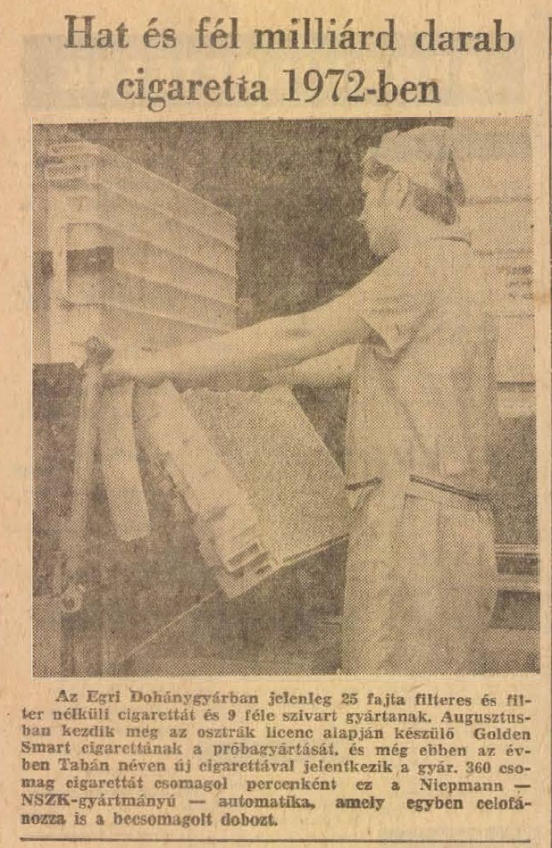 1972.08.06. 6,5 milliárd cigaretta