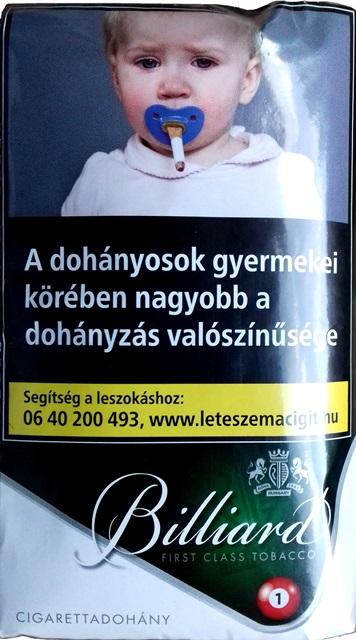 Billiard cigarettadohány 11.