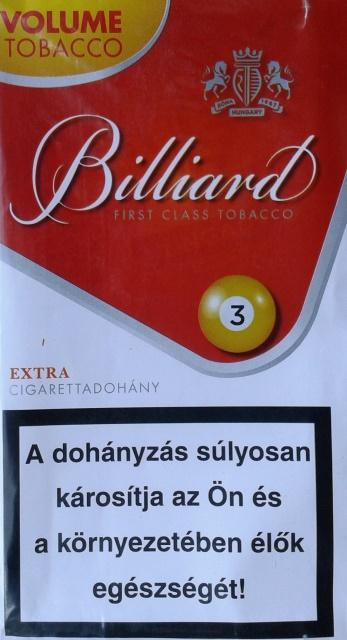 Billiard cigarettadohány 09.