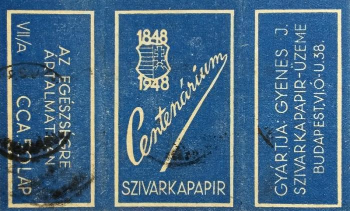 Centenárium cigarettapapír