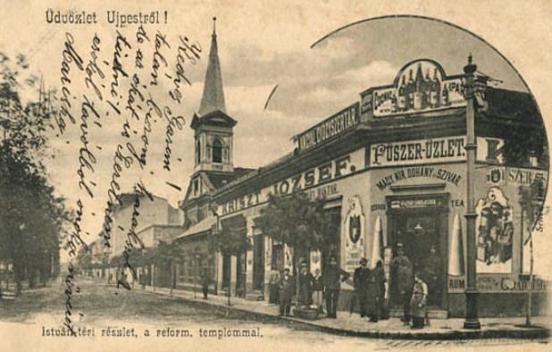 Újpest, István tér - Dohányáruda
