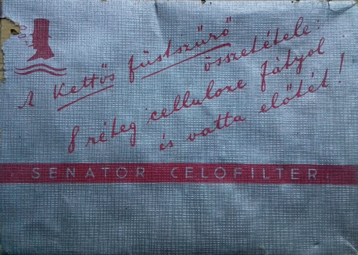 Senator Celofilter cigarettahüvely - üres