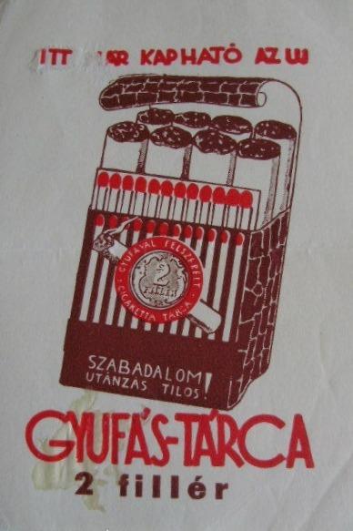 Gyufás cigarettatárca