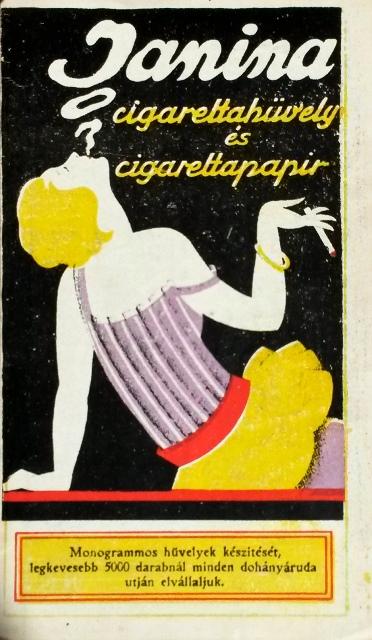 Janina reklámnaptár 1927.