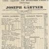 Joseph Gärtner árjegyzéke