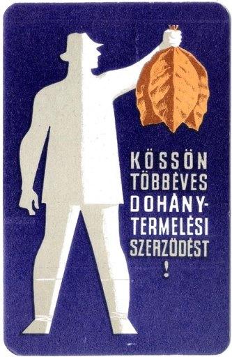 Dohánytermelési szerződés 1966.
