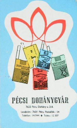 Pécsi Dohánygyár 1986.
