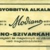 Modiano számolócédula 11.