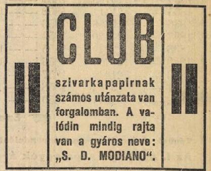 1906.05.11. Modiano-Club