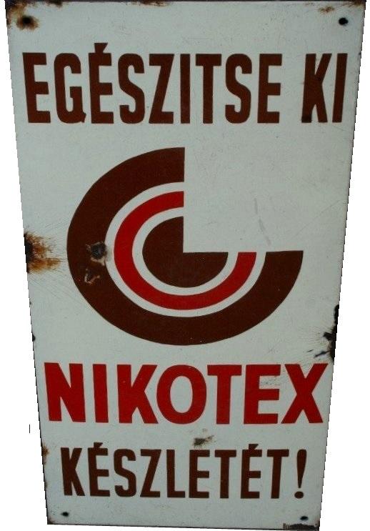 Nikotex zománctábla 11.
