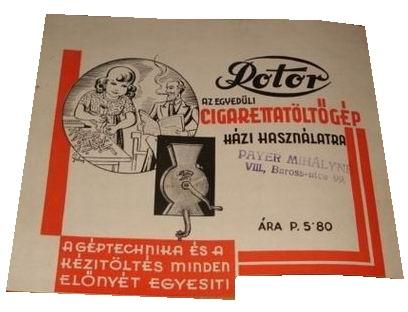 Rotor cigarettatöltő gép